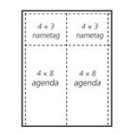 agenda insert stock